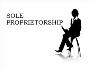 The Words 'Sole Proprietorship'.