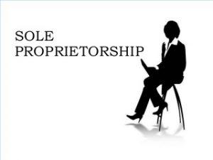 The Words 'Sole Proprietorship'.